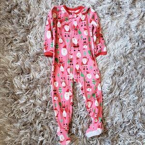 Carter's Holiday Christmas Santa Onesie Pajamas